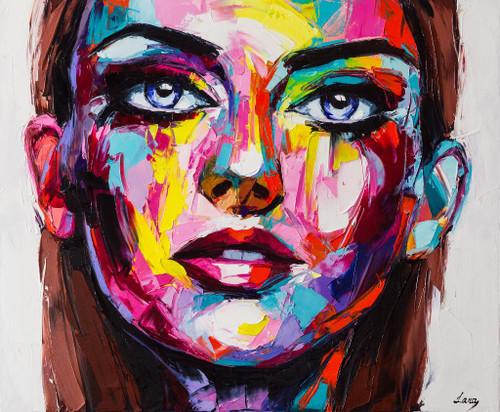 Rocking Lady 11 (PRT_513) - Canvas Art Print - 26in X 21in