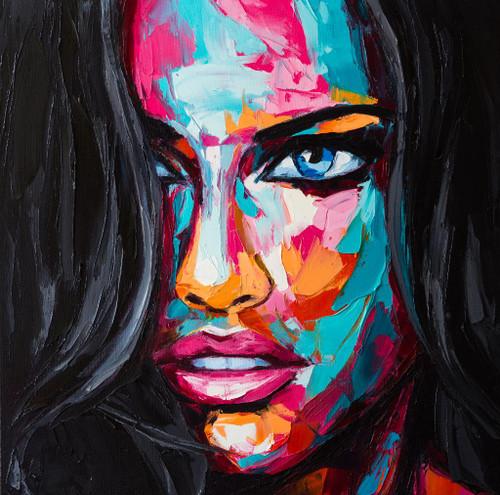 Rocking Lady 12 (PRT_514) - Canvas Art Print - 21in X 21in