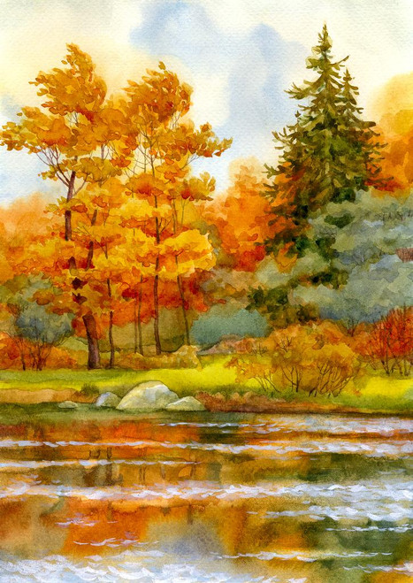 Soothing Nature (PRT_519) - Canvas Art Print - 21in X 30in