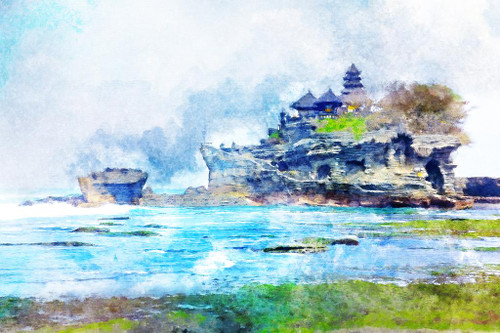 Bali Island (PRT_549) - Canvas Art Print - 32in X 21in