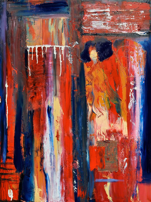 Modern08 - 24in X 32in,Modern08_2432,Red, Pink, Orange,60X80 Size,Abstract;Latest Collection Art Canvas Painting