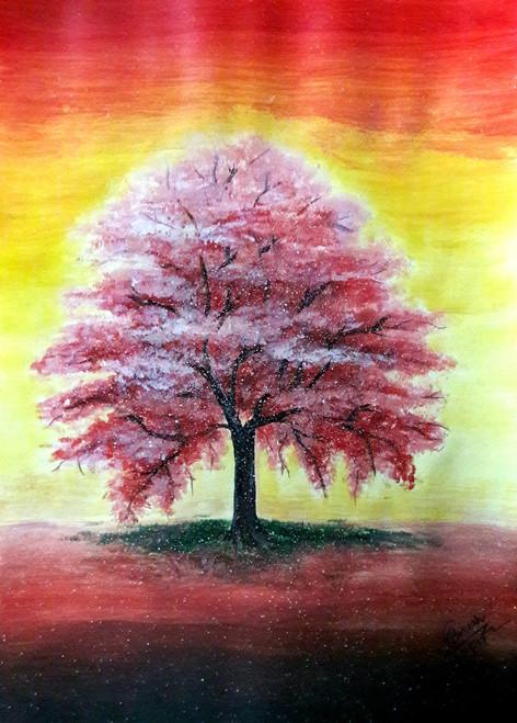 132ac59599687 Tree fantasism (ART 2074 18558) - Handpainted Art Painting - 12in X 16in