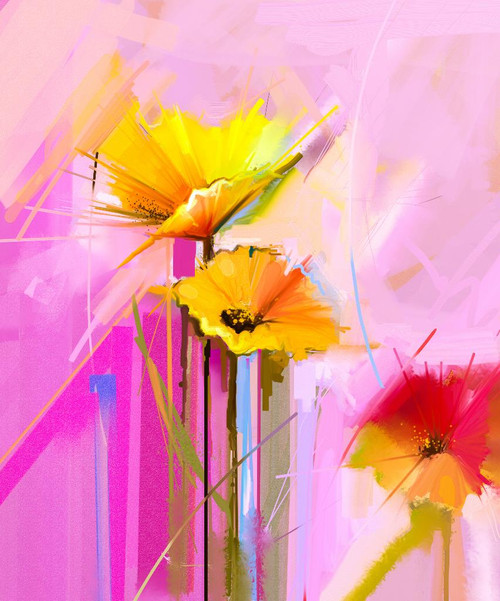 Floral Abstract 4 (PRT_866) - Canvas Art Print - 21in X 25in