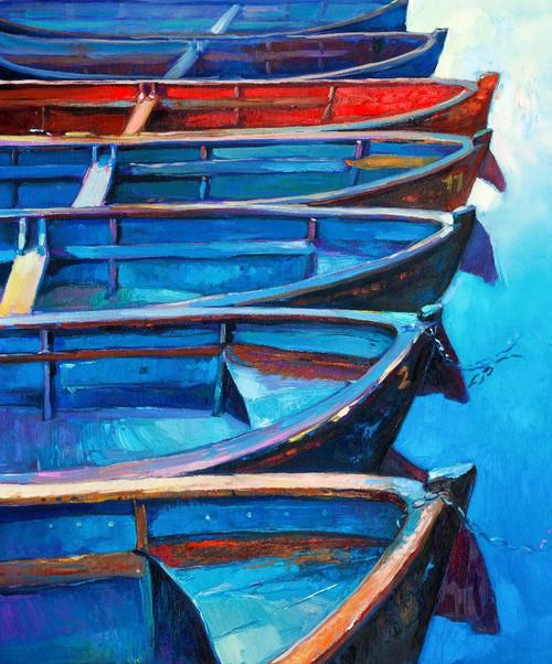 Boat Near The Shore 5 (PRT_894) - Canvas Art Print - 16in X 19in