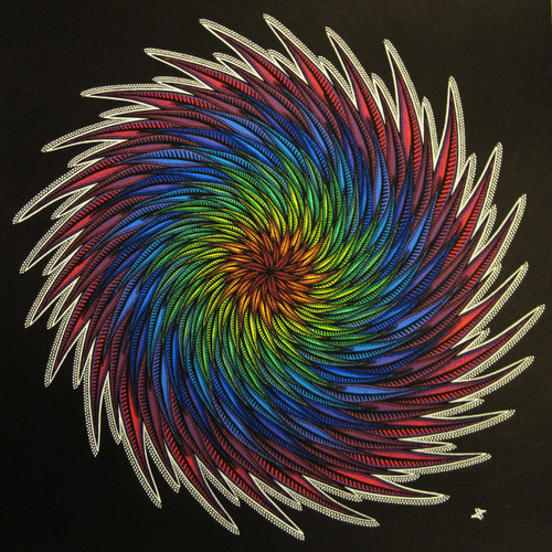 Spiral (ART_5406_31941) - Handpainted Art Painting - 15in X 15in