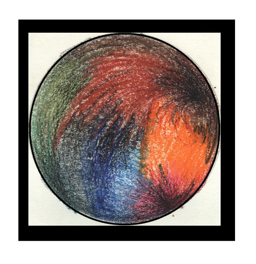 ABSTRACT (ART_5750_33257) - Handpainted Art Painting - 7in X 7in