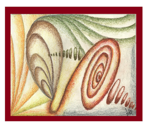 ABSTRACT (ART_5750_33254) - Handpainted Art Painting - 10in X 8in
