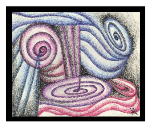 ABSTRACT (ART_5750_33253) - Handpainted Art Painting - 10in X 8in