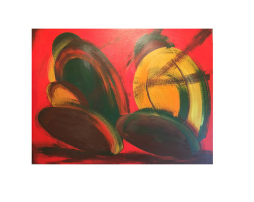 ABSTRACT (ART_5750_33191) - Handpainted Art Painting - 40in X 30in (Framed)