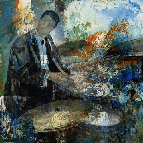 28Jazz16 - 24in X 24in,28Jazz16_2424,Blue, Violet, Mauve,60X60 Size,Modern Art;Latest Collection Art Canvas Painting
