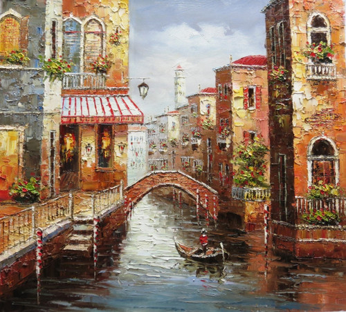 Venice 2 - 36in x 32in,RTCSB_17_3632,36in  x 32in,landscape,scenary,vience,potrait,Oil Colors,Canvas,Community Artists Group,Museum Quality - 100% Handpainted