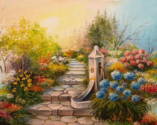 Stone Stairs In The Forest (PRT_1002) - Canvas Art Print - 25in X 20in