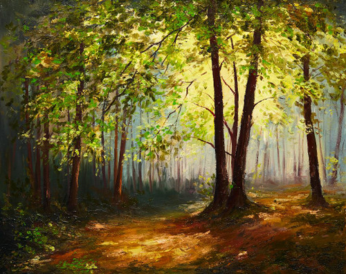 Summer Forest (PRT_1004) - Canvas Art Print - 26in X 21in