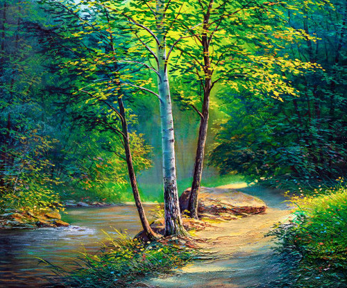 Summer Forest 2 (PRT_1022) - Canvas Art Print - 21in X 18in