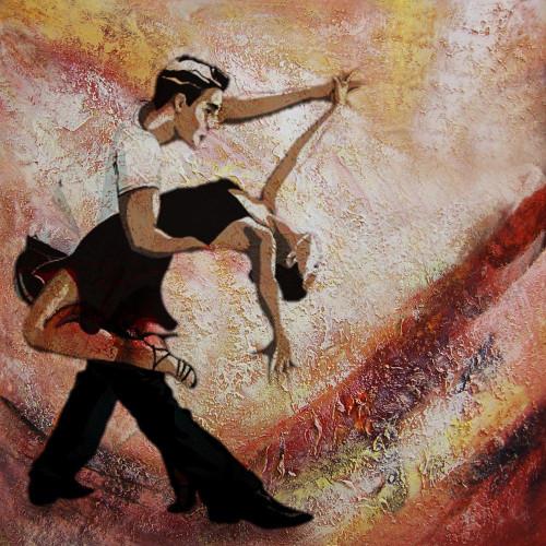 31DANCE28 - 24in X 24in,31DANCE28_2424,,60X60 Size,Modern Art Art Canvas Painting