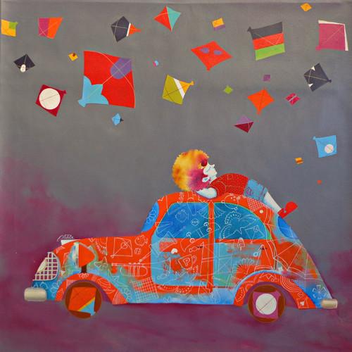 Treasure of the Childhood xx (ART_805_34927) - Handpainted Art Painting - 30in X 30in
