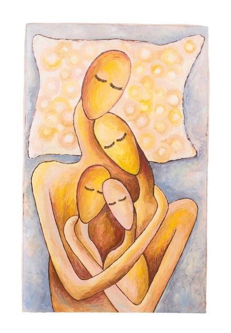 My Family (PRT_1045) - Canvas Art Print - 19in X 28in