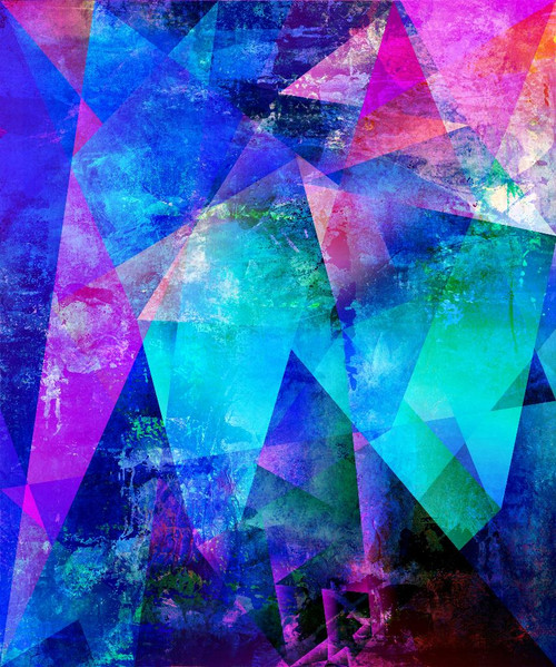 Abstract Polygonal Work (PRT_1049) - Canvas Art Print - 20in X 24in