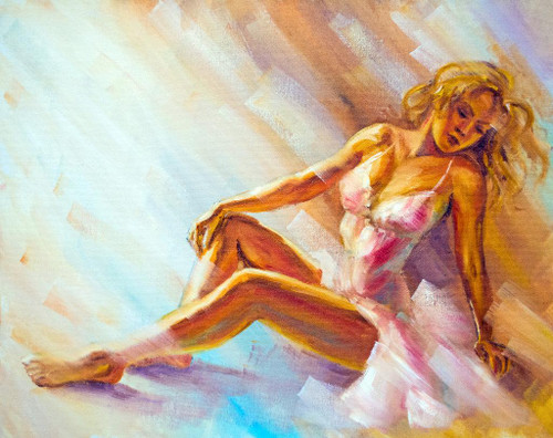 Ballerina (PRT_1052) - Canvas Art Print - 27in X 21in