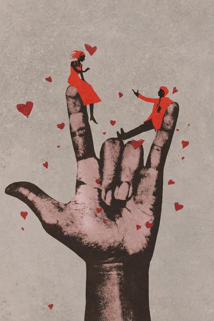 Romantic Couple (PRT_1053) - Canvas Art Print - 18in X 27in