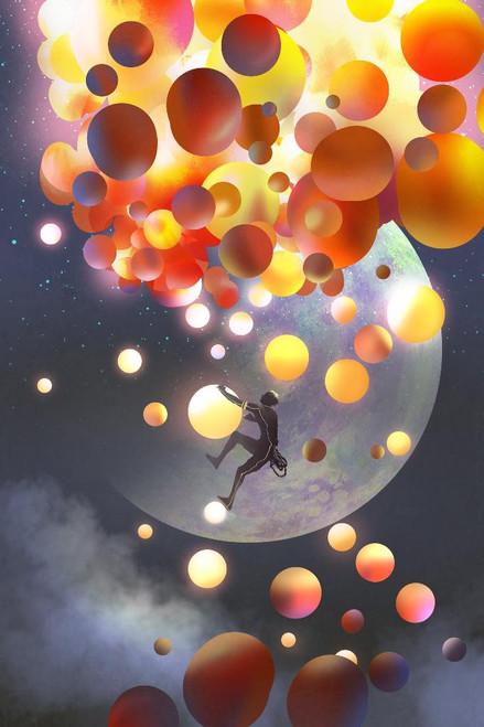 Climbing Up My Dream (PRT_1054) - Canvas Art Print - 18in X 27in