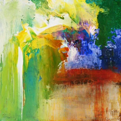 31ABT364 - 32in X 32in,31ABT364_3232,Green,80X80 Size,Abstract;Latest Collection Art Canvas Painting