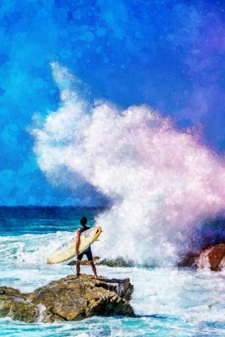 Beach Leisure (PRT_1134) - Canvas Art Print - 21in X 32in