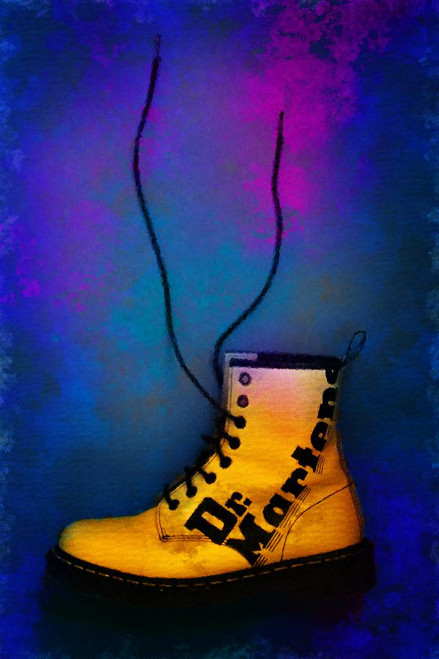 Boot And Art (PRT_1142) - Canvas Art Print - 21in X 32in