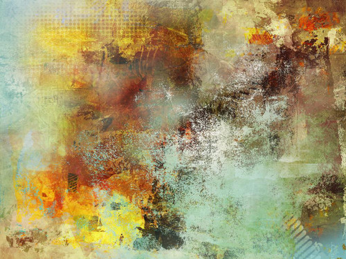 The Times Of Abstract (PRT_1146) - Canvas Art Print - 27in X 20in
