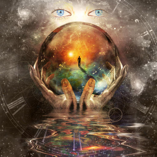 The Sphere Of Time (PRT_1149) - Canvas Art Print - 18in X 18in