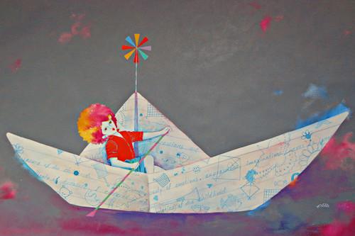 Memories of the Childhood xv (ART_805_35754) - Handpainted Art Painting - 36in X 24in