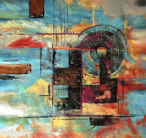 56ABT27 - 32in x 32in,56ABT27_3232,Community Artist Group,Museum Quality,Abstract, - 100% Handpainted