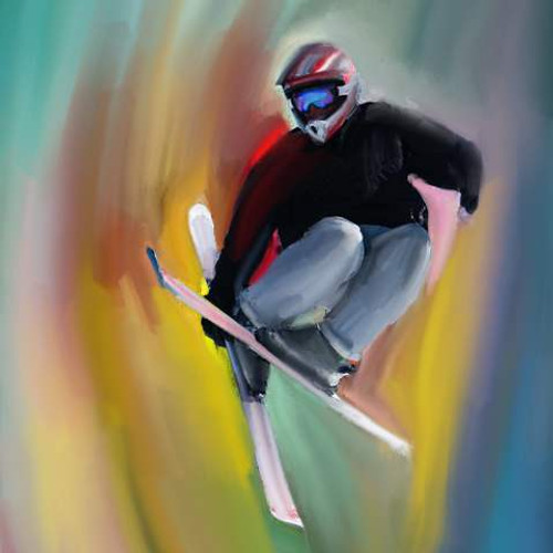 Snow Sport,Winter Sport,Skiing,Jump,High Jump at Snow Fall,Player,Sport Player