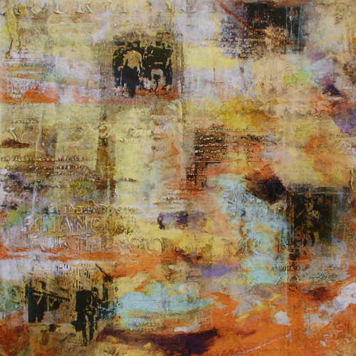 Abstract,abstract paintings,yellow abstract,brown,brown coloured painting