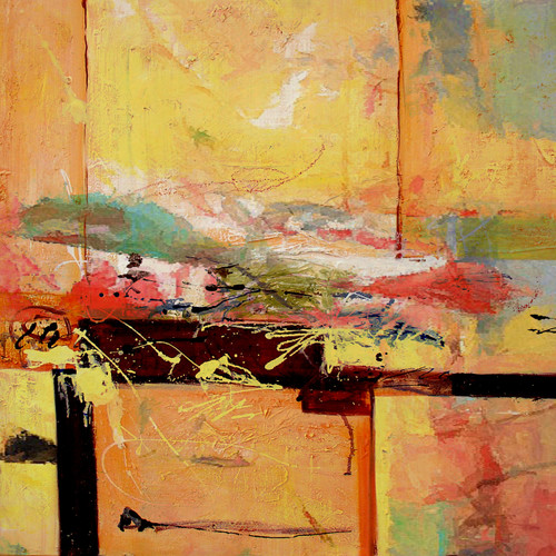 Abstract,abstract paintings,yellow abstract,brown painting