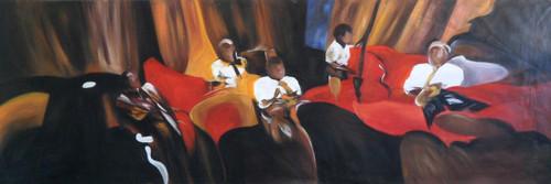 abstract,people,group of people,brown,brown paintings