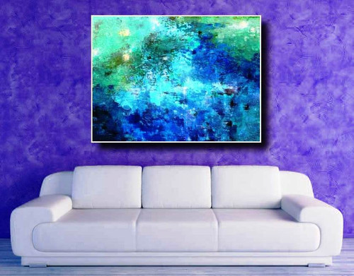 Turqoise Waters - Handpainted Art Painting-CS_IJ48O_31ABT303_4030 - 47.00in X 30.00in