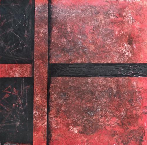 Chattisgarh Conundrum (ART_6549_37840) - Handpainted Art Painting - 20in X 20in