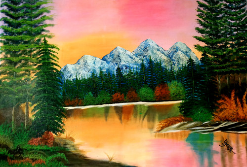 Landscape painting  (ART_6505_38083) - Handpainted Art Painting - 24in X 36in