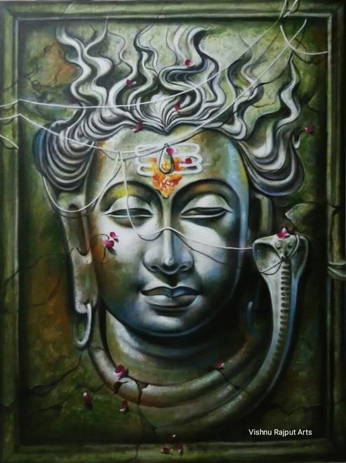 Shiva Paintings India | Shiva Artworks Online | Online Shopping of
