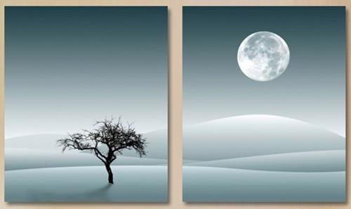 tree,moon,desert,tree in desert,tree in night,tree with moon,moon in desert,white,lone , alone,only tree, alone tree, one tree, multipiece, tree in multipiece
