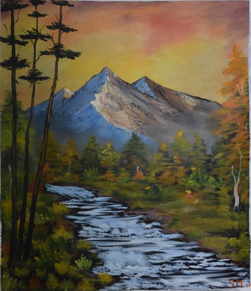Waterflow (ART_6698_38782) - Handpainted Art Painting - 19in X 23in