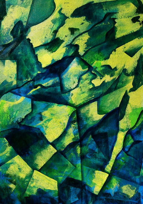 Abstract_P258 (ART_464_38806) - Handpainted Art Painting - 22in X 32in