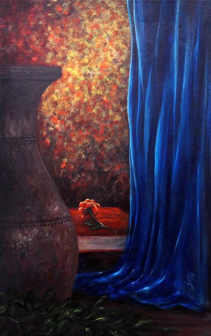 Glorious (ART_464_28685) - Handpainted Art Painting - 20in X 32in