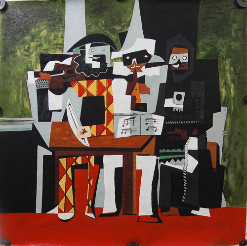 PicassoMusicians - 32in X 32in,FIZ044PSC_3232,Multi-Color,80X80,Replicas Art Canvas Painting