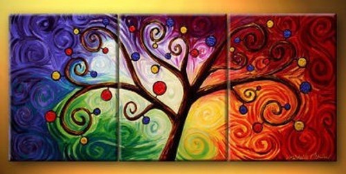 tree, abstract, abstract tree,multicolored tree,curves, circles