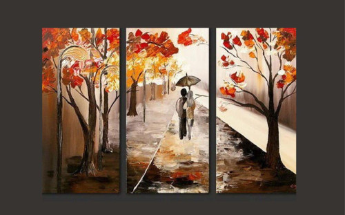 walk, couple, tree, lots of trees, forest, rain, umbrella,pathway, way, road