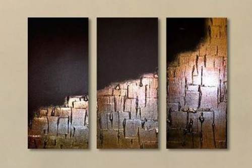 abstract, stair, stairs, steps, golden, golden painting,black