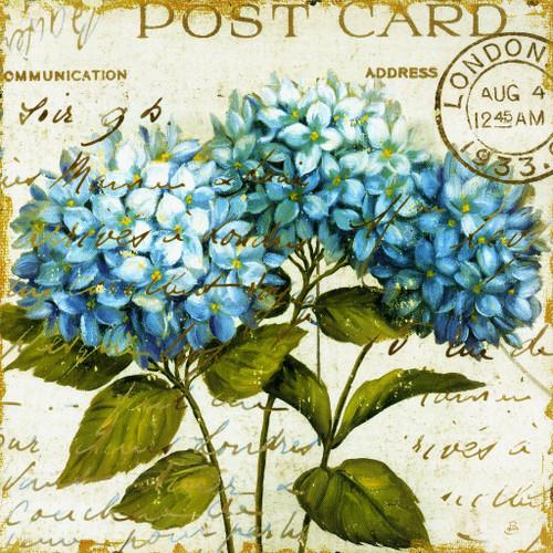 Blue Flowers 04 (PRT_1480) - Canvas Art Print - 27in X 27in