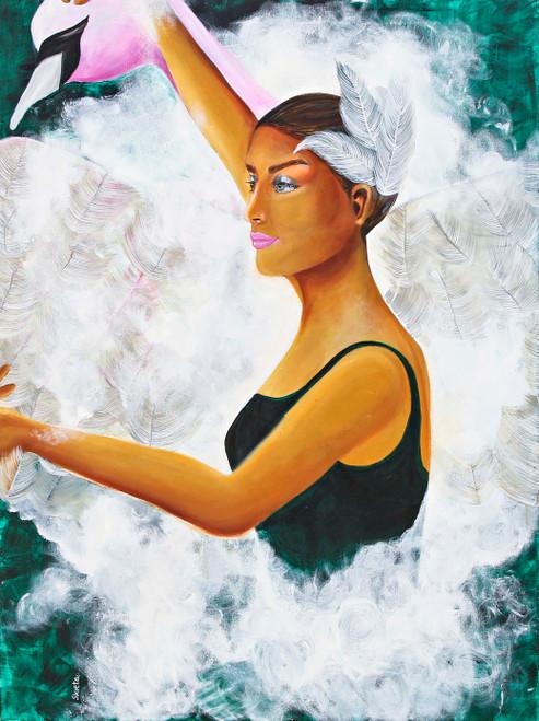 One Soul (ART_6584_37828) - Handpainted Art Painting - 36in X 48in
